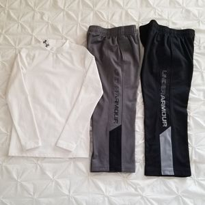 Under Armour Fitted Top & Jogging Pants Bundle